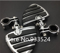 Wing Footpegs Footrest Male Mount Clamps for Harley Sportster Hond GoldWing GL1800 Suzuki Boulevard Yamaha XV250 Kawasaki VN1500