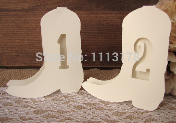 Country wedding table numbers Western Cowboy wedding