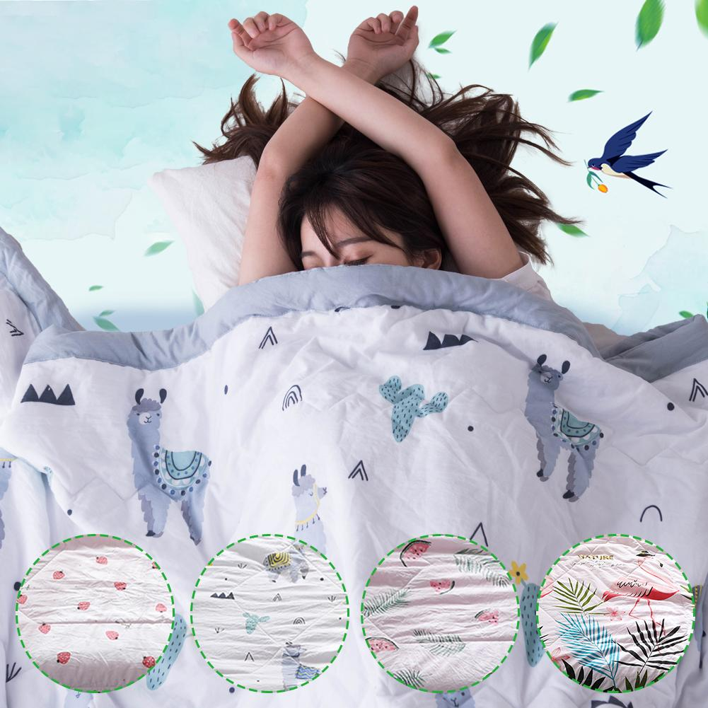 New Printing Flamingo Washable Cotton Summer Quilt Double Cool Gauze Towel Baby Blanket Nap Air Conditioning BlanketsNew Printing Flamingo Washable Cotton Summer Quilt Double Cool Gauze Towel Baby Blanket Nap Air Conditioning Blankets