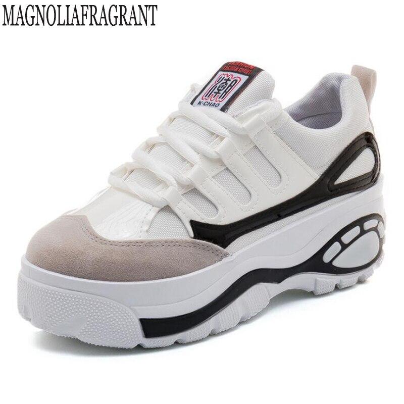 Женские осенние туфли на плоской подошве обувь на платформе кроссовки обувь из замши повседневная обувь без шнуровки на плоской подошве Мо...
