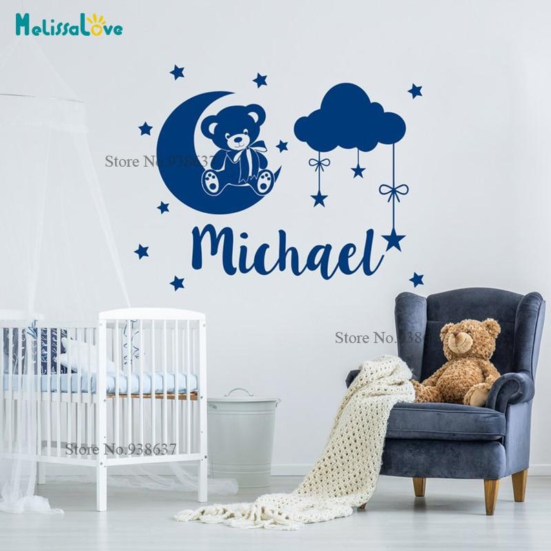 Grande nursery bébé Teddy Bear Cute murales Autocollant Art Transfert Autocollant Poster