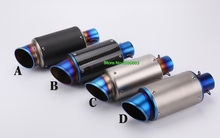 Universal Inlet 51mm Motorcycle Exhausts Muffler Pipe AR Carbon Fiber Motorbike Mufflers Escape with DB Killer
