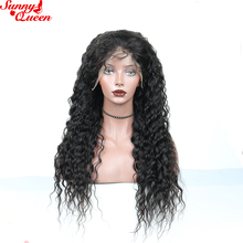 Deep Wave Full Lace Human Hair Wigs 100% Human Hair Brazilian Remy Hair Pre Plucked With Baby Hair Nature Color Sunny Queen
