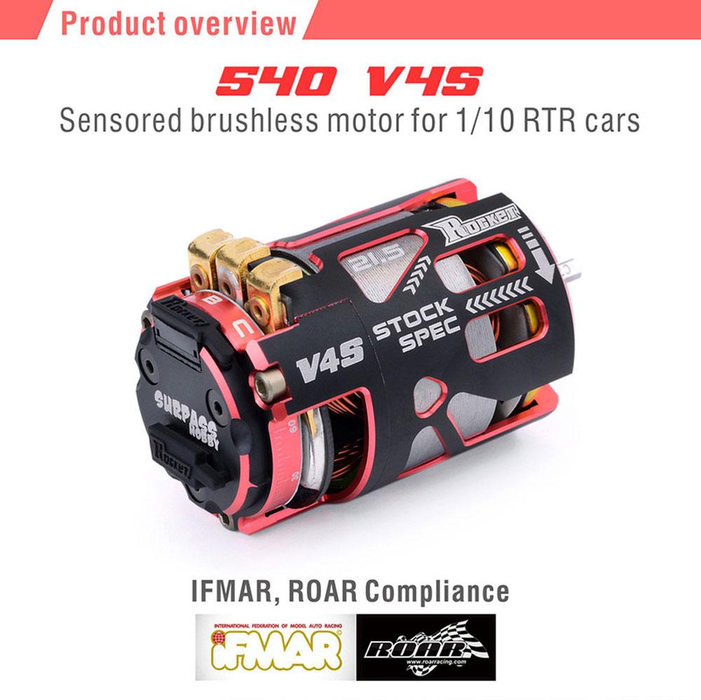 Rocket 540 V4S Sensored Brushless Motor Modified 4.5T for 1//10 1//12 RC Cars