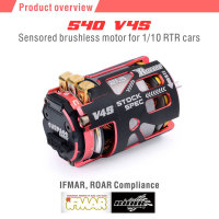 SURPASSHOBBY Rocket 540 V4S 10.5T 13.5T 17.5T 21.5T 25.5T Sensored Brushless Motor for Spec Stock Competition 1/10 1/12 F1 RC