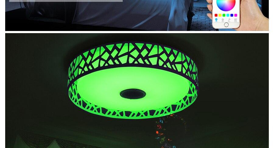 Plafoniere Bluetooth : FÜhrte deckenleuchten lampe musik für schlafzimmer bluetooth