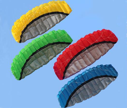 Livraison Gratuite De Haute Qualité 2.5 m Double Ligne 4 Couleurs Parafoil Parachute Sports Plage Kite Facile à Piloter