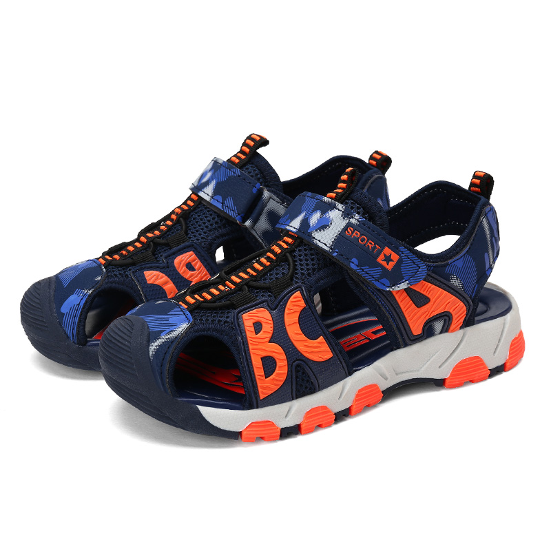 HOBIBEAR Beach Children Shoes Kids Sandals Summer Boys Shoes Closed-toe Quick-Dry Breathable Sport Running Boys Sandals infantil