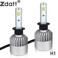 Zdatt 1Pair Super Bright H1 LED Lamp 72W 8000LM Auto Headlight Bulbs Car Led Light CSP
