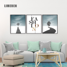 Nordic Home Decorative Painting travel scenery Wall Photo Canvas For Living Room Poster