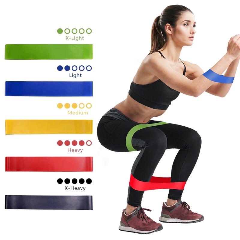 Resistance Band Yoga Stretching Belt Exercise Gym Outdoor Fitness Equipment Latex Pilates Exercise Training Yoga Belt