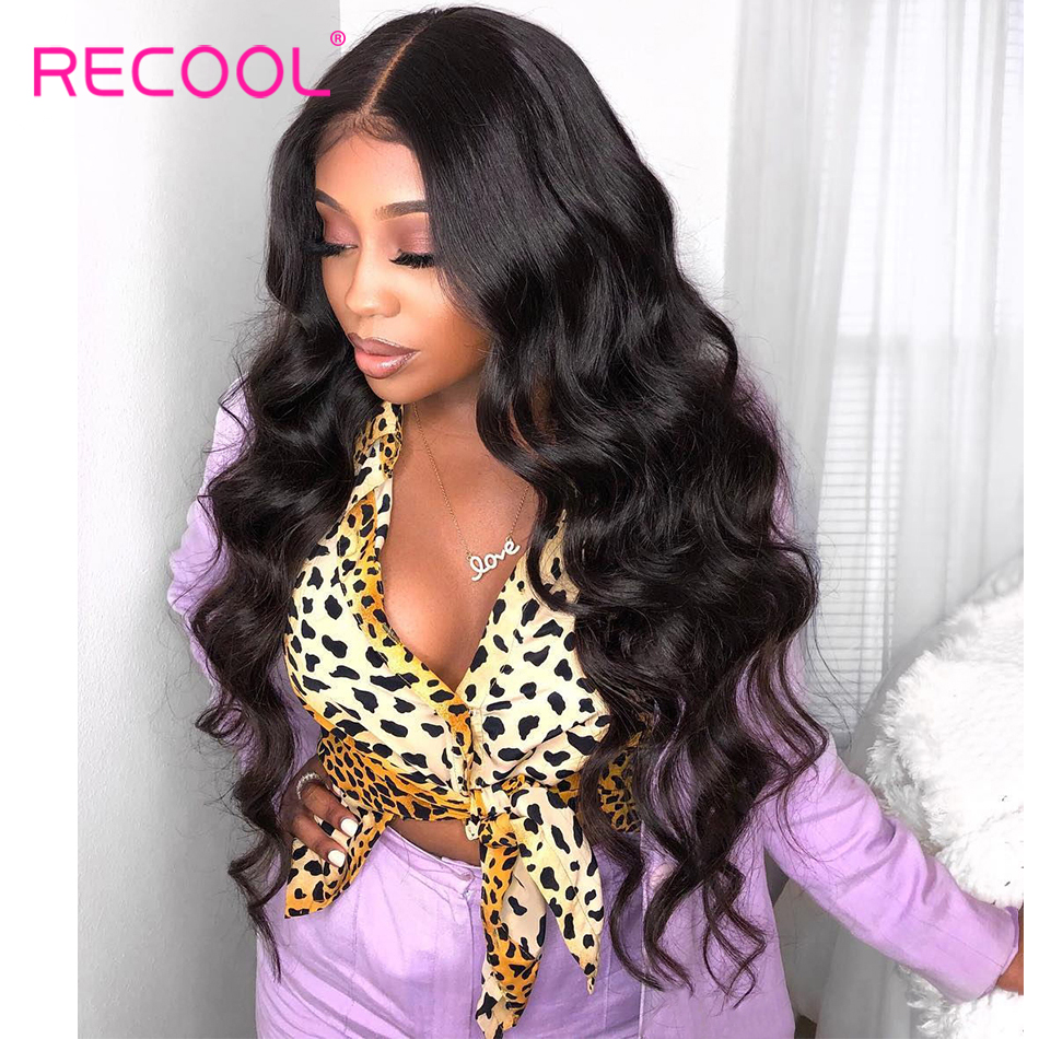 ebf5e2481ff US $37.0 45% OFF|Recool Body Wave Lace Front Human Hair Wigs Pre Plucked  Glueless Brazilian Full Lace Front Wig With Baby Hair Bleached Knots-in  Human ...