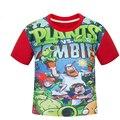 Детский мультфильм футболка Зомби партия детская одежда дети с коротким рукавом Футболки