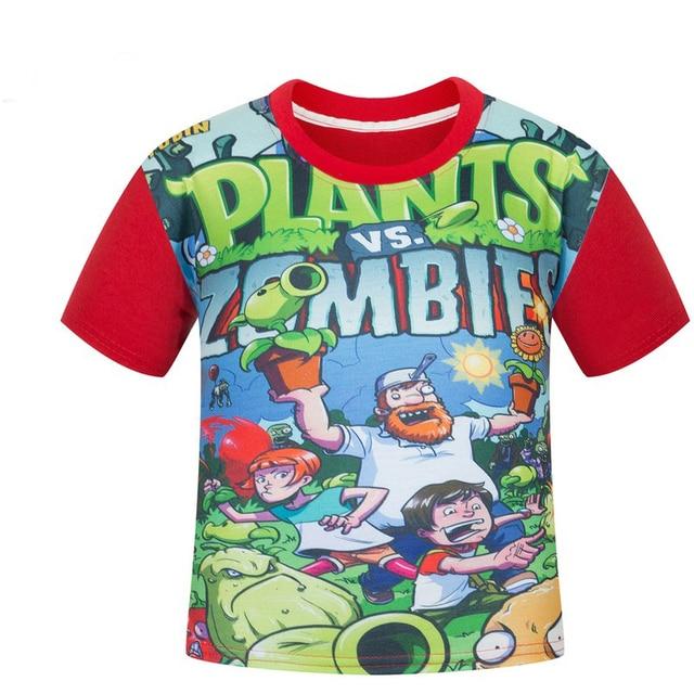 Kids cartoon t shirt Zombies a consignment of children's clothes children short sleeve T-shirt
