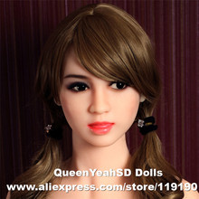 #98 Top quality oral sex doll head for chinese love dolls, sexy doll silicone heads with oral sex, sex products