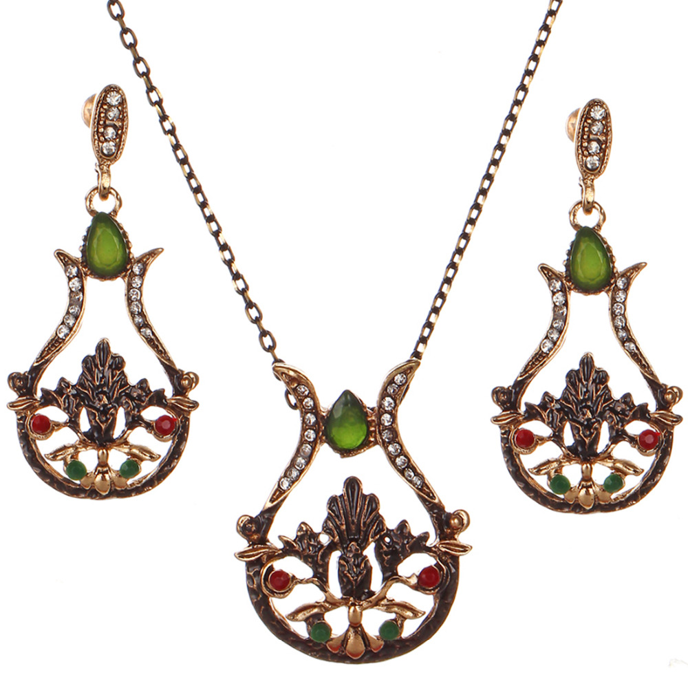 Bridal classics necklace sets mj 259 - Zoshi 2017 Fashion Flower Wedding Party Jewelry Sets Women Indian Bridal Statement Necklace Earrings Accessory