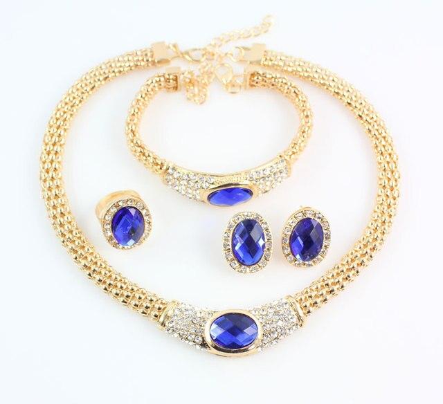 ювелирные наборы для женщин вечерние свадебные аксессуары голубой фотография