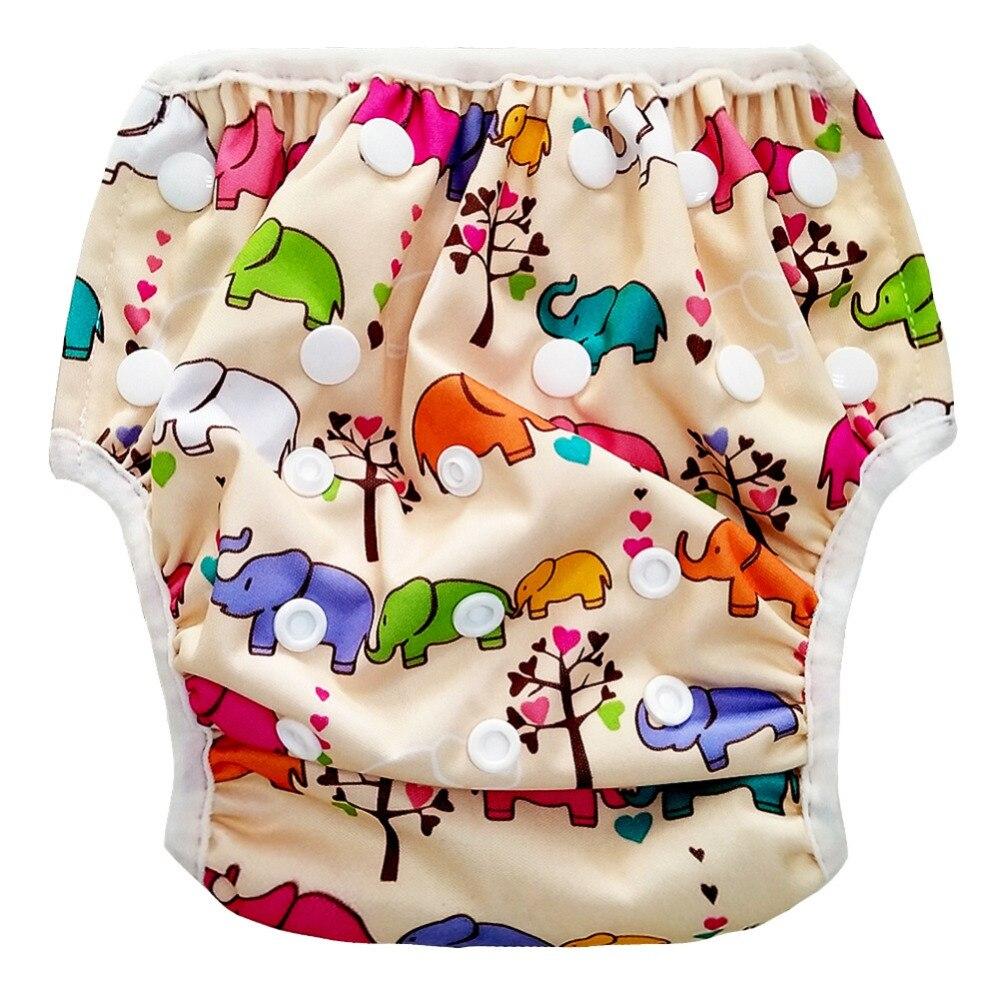 Подгузники для плавания для маленьких мальчиков и девочек; купальный костюм для малышей; Водонепроницаемый купальник для плавания в бассей...