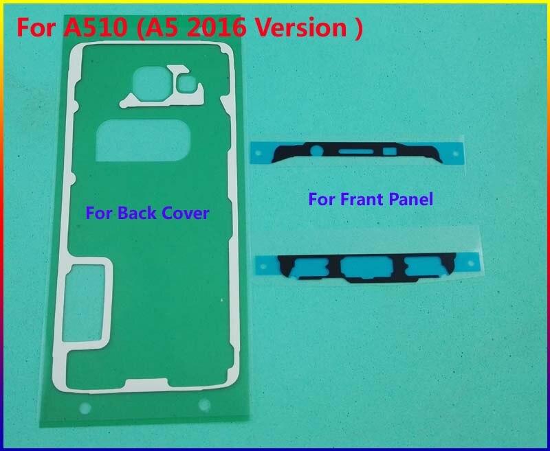 Цена за 20 компл./лот оригинальная передняя рамка наклейка + задняя крышка case дверь клей для samsung galaxy a510 (A5 2016 Версия) ленты Клей