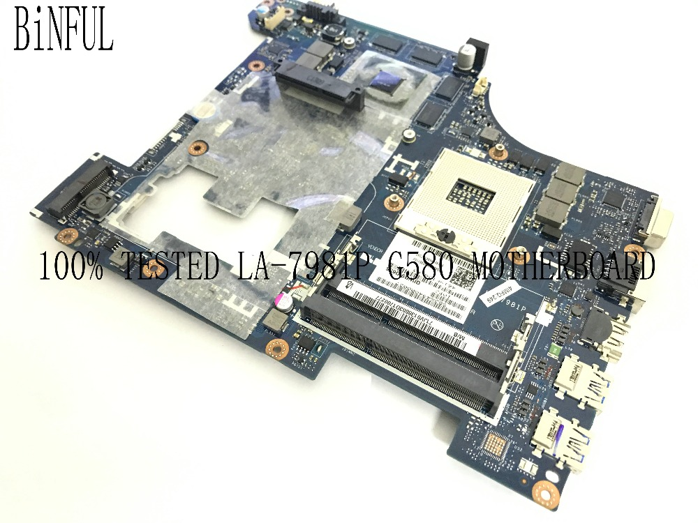 BiNFUL AVAILABLE 100% TESTED NQIWG5_G6_G9 LA-7981P MAINBOARD MOTHERBOARD FOR LENOVO G580 NOTEBOOK PC VIDEO CARD <font><b>GT630M</b></font> 2GB image