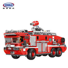 XINGBAO 03030 NEW City Fire Fighting Series The Water Tank Fire Truck Set Building Blocks Fire Engine Bricks Educational Toys(China)