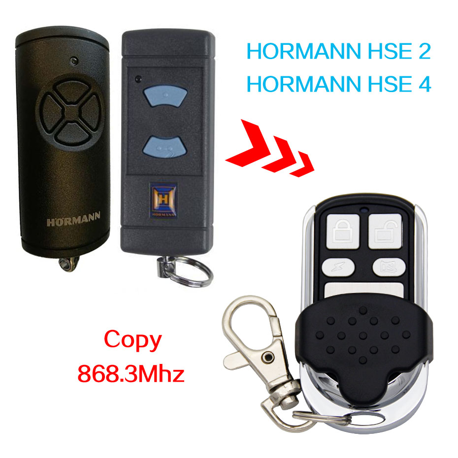 Hormann HSE2 868, HSE4 868mhz replacement remote control top quality Hormann remote contro/ Battery Included / Free Shipping
