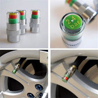 4 Pcs Car High Precision Auto Tire Pressure Monitor Valve Warning Monitoring Cap Sensor Alert Warning Cap Tire Pressure Meter