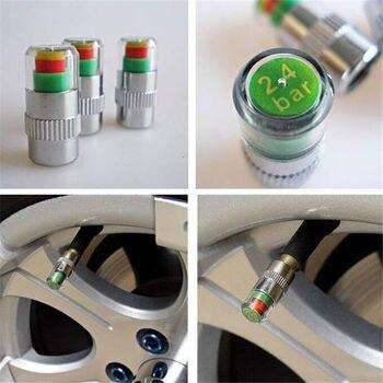 4 adet araba yüksek hassasiyetli otomatik lastik basınç monitörü vana uyarı izleme kapağı sensörü uyarısı uyarı kapağı lastik basınç ölçer