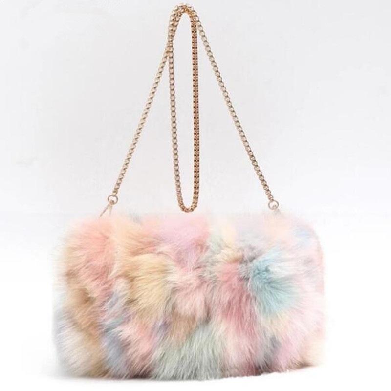 55b27bca2314 Для женщин зима искусственный мех сумка Мода сумки сумка леди леопардовые сумки  женские вечерние маленькие девочки