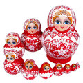 Muñecas rusas de la jerarquización muñecas matryoshka 10 unids/set étnica tradicional trenza chica flor de la mano pintura toys regalos para bebés y niños