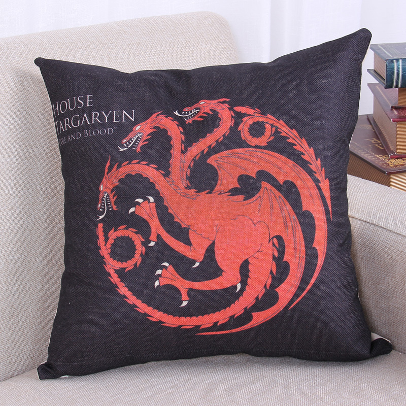 New 2016 Game Of Thrones Pillows Dragon Style Home Decorative Throw Pillow ...