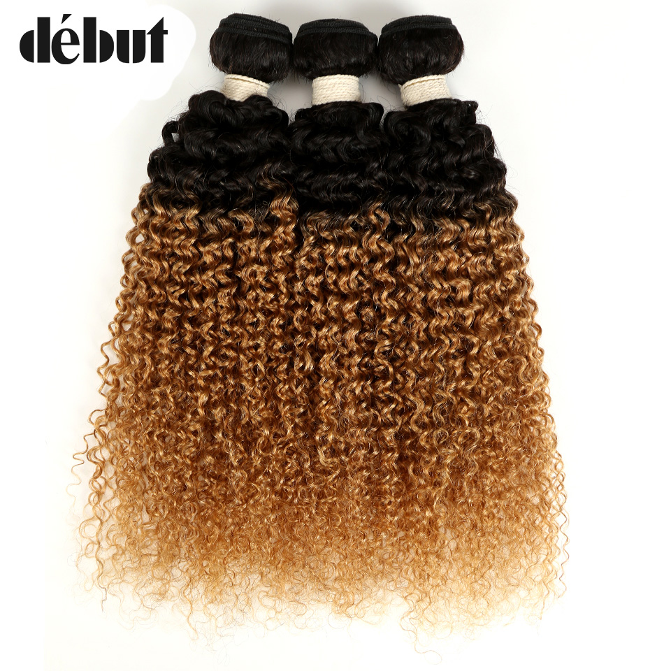 Hair Extensions & Wigs Debut Brazilian Human Hair Extension Kinky Curly T1b/27 Ombre Color Blonde Human Hair Bundles 10-22 Inch 2/3 Bundles Human Hair Catalogues Will Be Sent Upon Request
