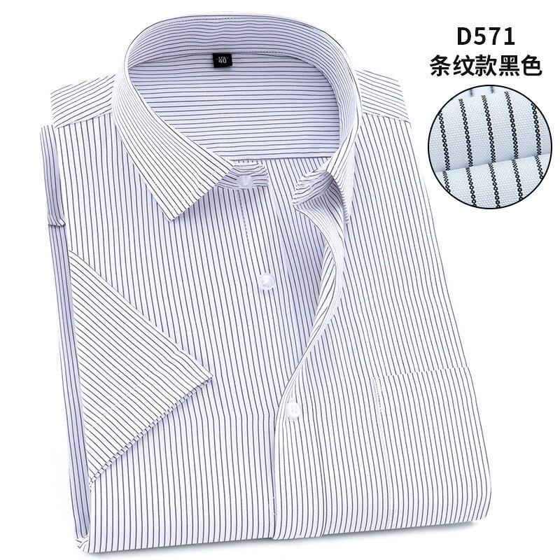 Twill Pure Color 8XL 7XL 6XL 5XL large size Men Shirt Short Sleeve Slim Fit Formal Men's White Shirt Business Male Social Shirts