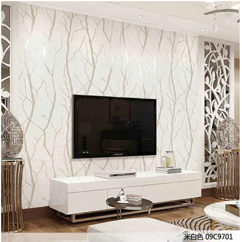 living simple modern bedroom background 3d deer leather tv striped stereo wallpapers tree