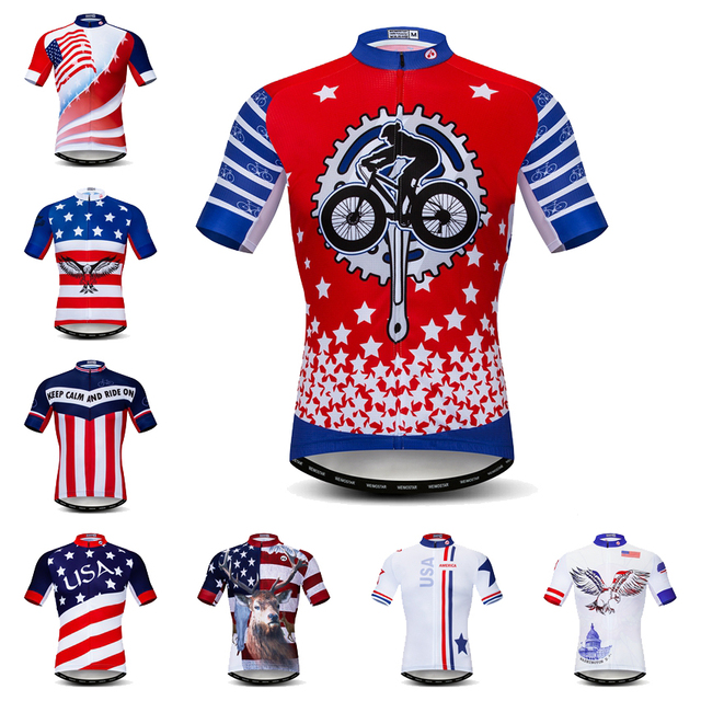 Pro Summer USA Cycling Jersey Men Short Sleeve Bicycle Jerseys Maillot  Ciclismo Road Bike MTB United States Cycling Clothing Top d7d0c2db9