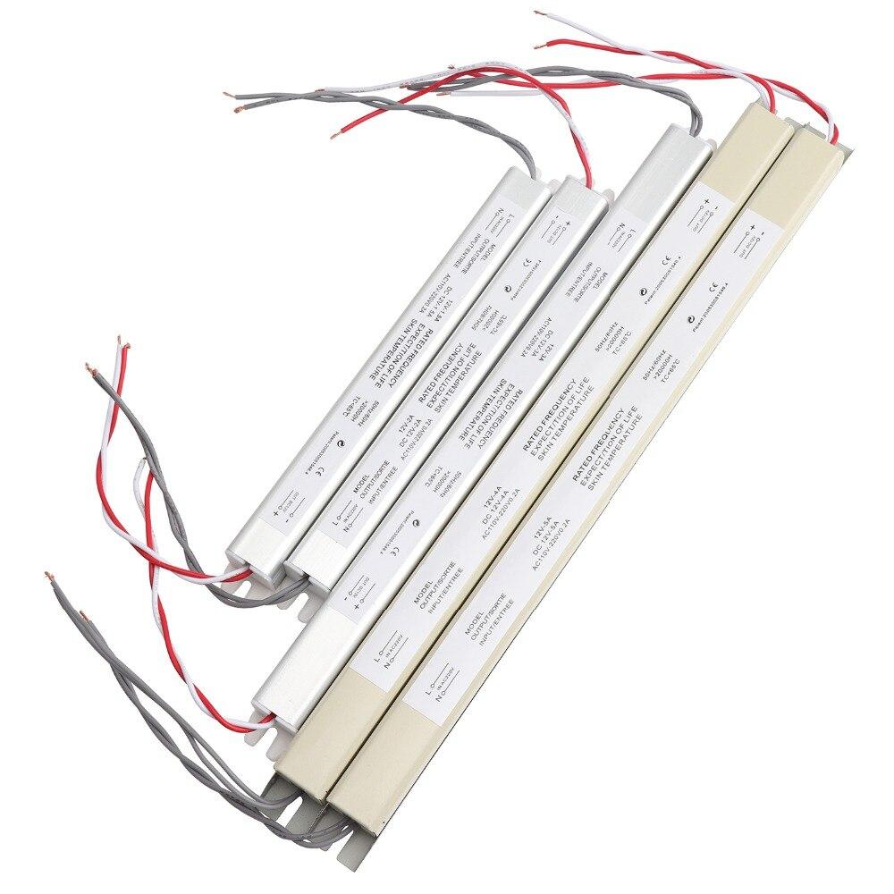 Conducteur de LED en métal mince alimentation DC12V AC 110 V 220 V à DC 12 V transformateurs d'éclairage 3A 5A pour la boîte d'éclairage publicitaire IL