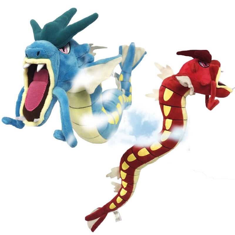 "22"" Monster Center Plush Toy Blue/Gree Gyarados Plush Toys Doll Soft Stuffed Animals Brinquedos Gift for Children"