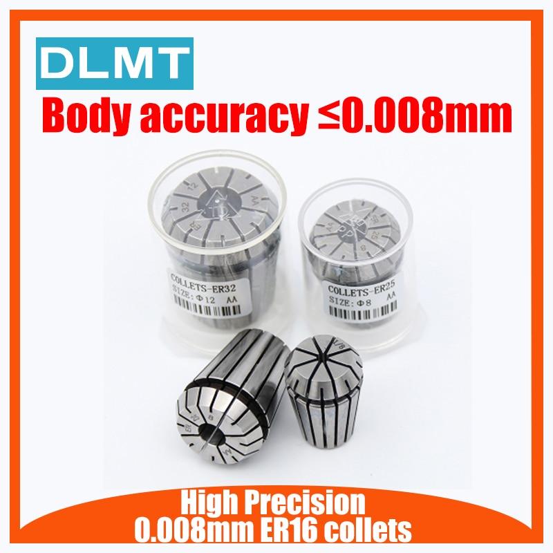 1PCS  ER16 Collets High Precision 0.008mm Accuracy 1mm-10mm ER16 Spring Collet Suitable For ER Collet Chuck Holder