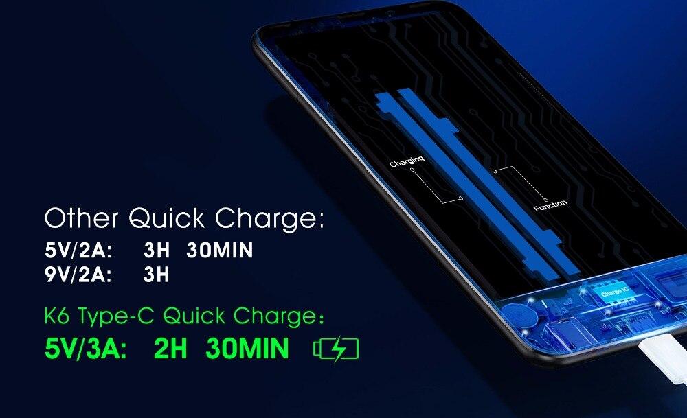 "HTB1XM07h vI8KJjSspjq6AgjXXaE - Original Oukitel K6 Face ID Smartphone 6300mAh 6.0"" 18:9 FHD+ MTK6763 6GB RAM 64GB ROM 5V/3A Quick Charge 4 Cameras Mobile Phone"