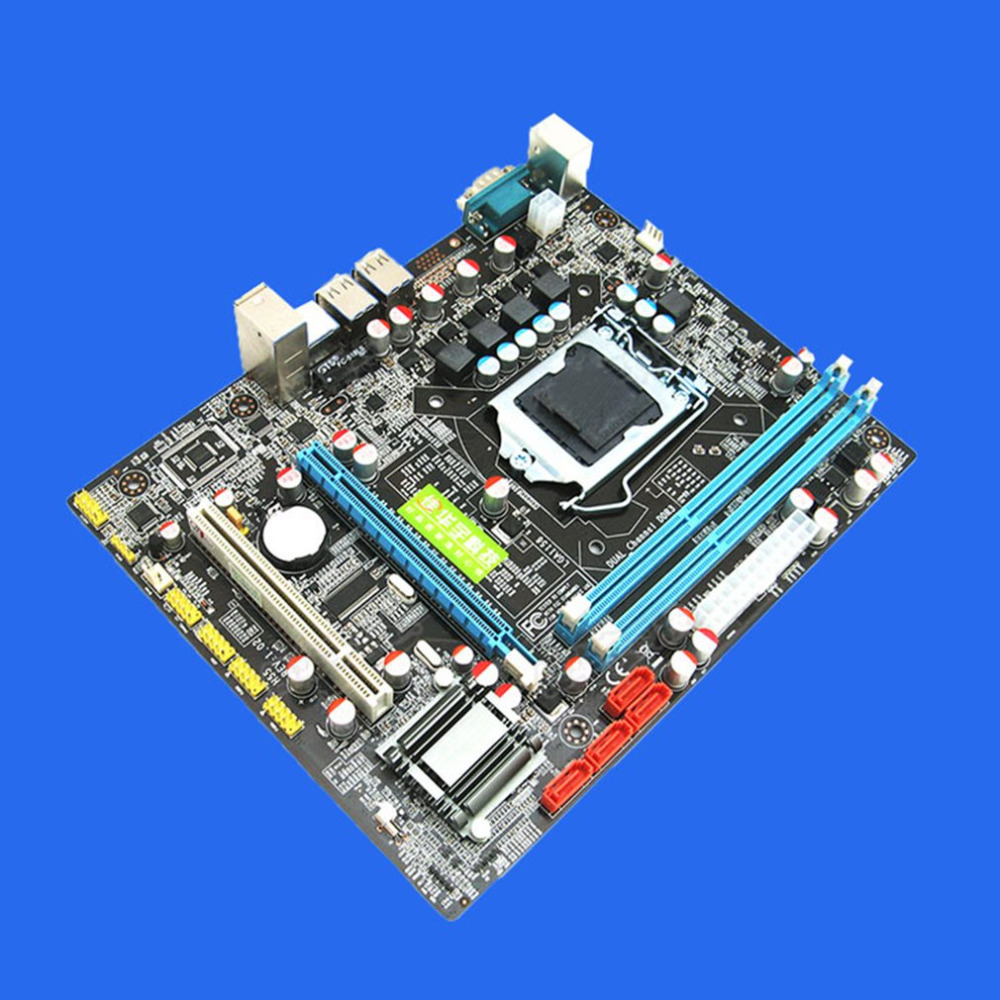 US $60 79 5% OFF|Motherboard with Intel P55 Desktop Computer Motherboard  Supports with Ecc Memory LGA 1156 CPU Motherboard PCI Express 16X-in