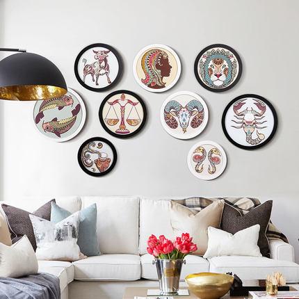 Simple circular photo frame 6 inches, 7, 8, 10, 12, 14, 16, 18, 20 ...