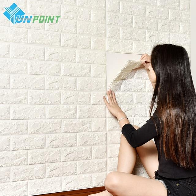 DIY Selbstadhensive 3D Ziegel Wandaufkleber Wohnzimmer Decor Schaum Wasserdichte Wandverkleidung Tapete Fr TV Hintergrund Kinderzimmer