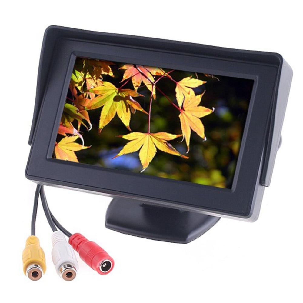 4,3 inchTFT LCD Auto Monitor Reverse Farbe Kamera DVD VCR CCTV Auto Parkplatz Assistance Backup Reverse Kamera Auto- styling