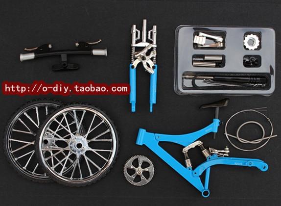 Diy Assembled Bicycle Model Craft Kits Damping Mountain