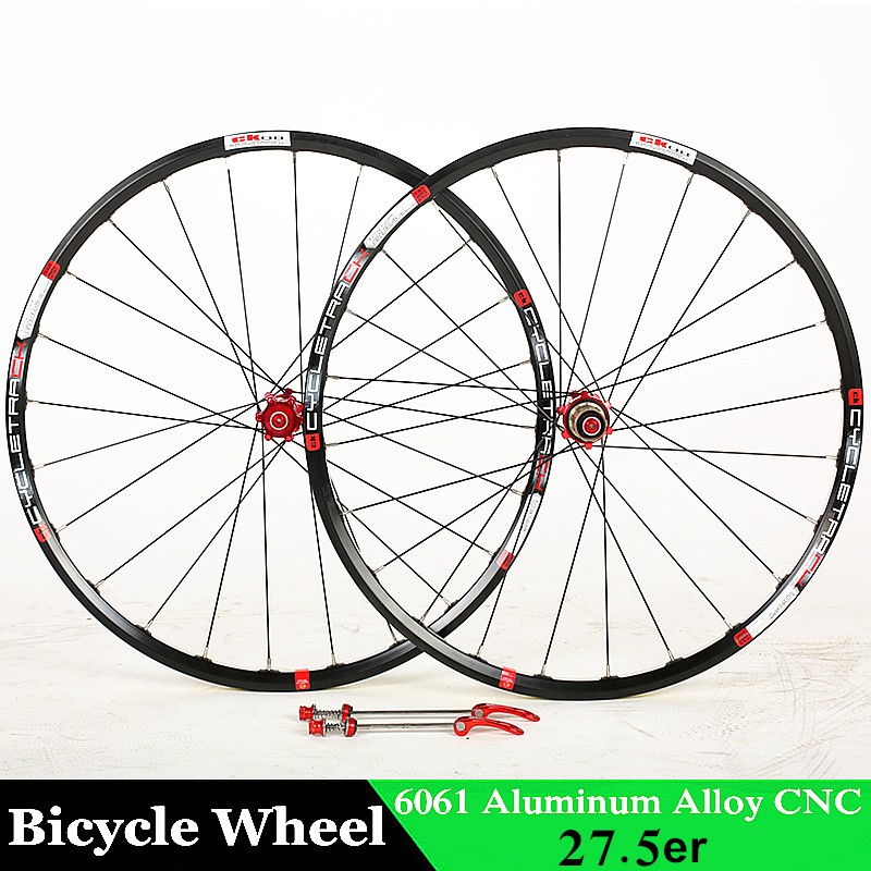 Bicycle Wheel 27 5er MTB 24Holes 6061 alloy CNC Disc brake wheels 4 bearing wheels for Shimano 8/9/10/11 Speeds Bicycle Parts rovan cnc alloy brake axle bearing