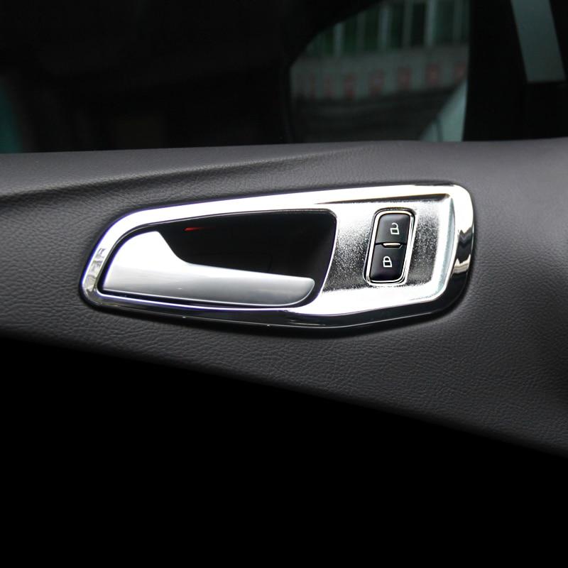 For Honda Odyssey 2015-2017 Stainless Rear Inner Door Bowl Covers Trim 2pcs