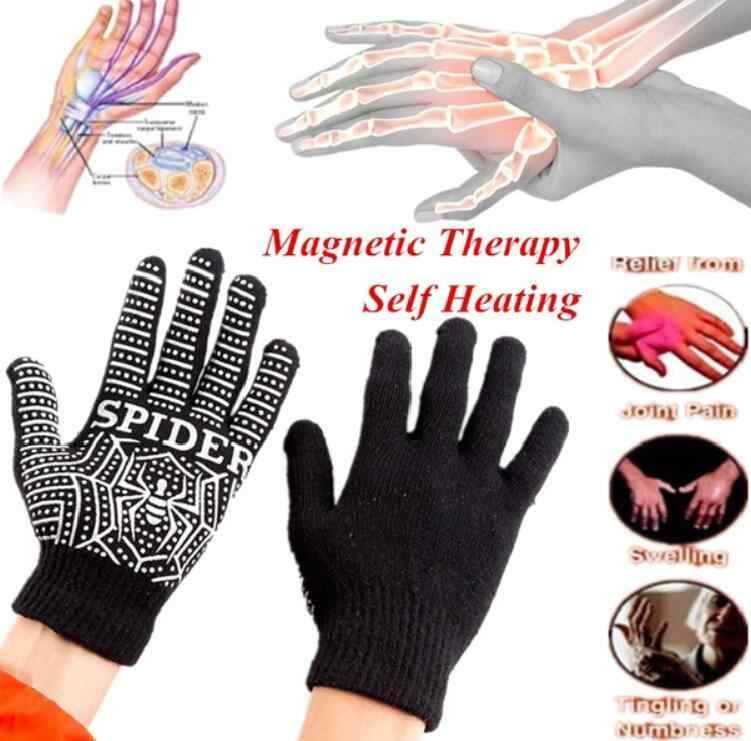 1 пара артрит суставы подтяжки перчатки анти-отек магнитные перчатки ревматоидная рука боли рельеф здоровье и гигиена ручной массажер