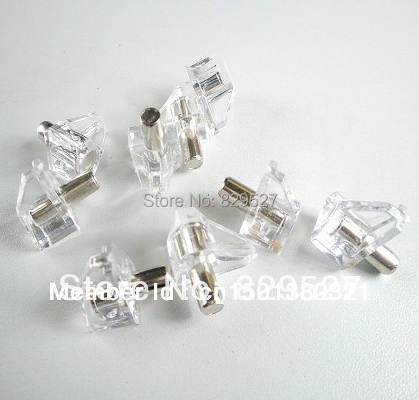 500PCS/LOT Clear Crystal Plastic Shelf Supports With 5mm Nickel Plated Pin  Adustable Cabinet Shelf Support - Online Get Cheap Cabinet Shelf Supports -Aliexpress.com Alibaba