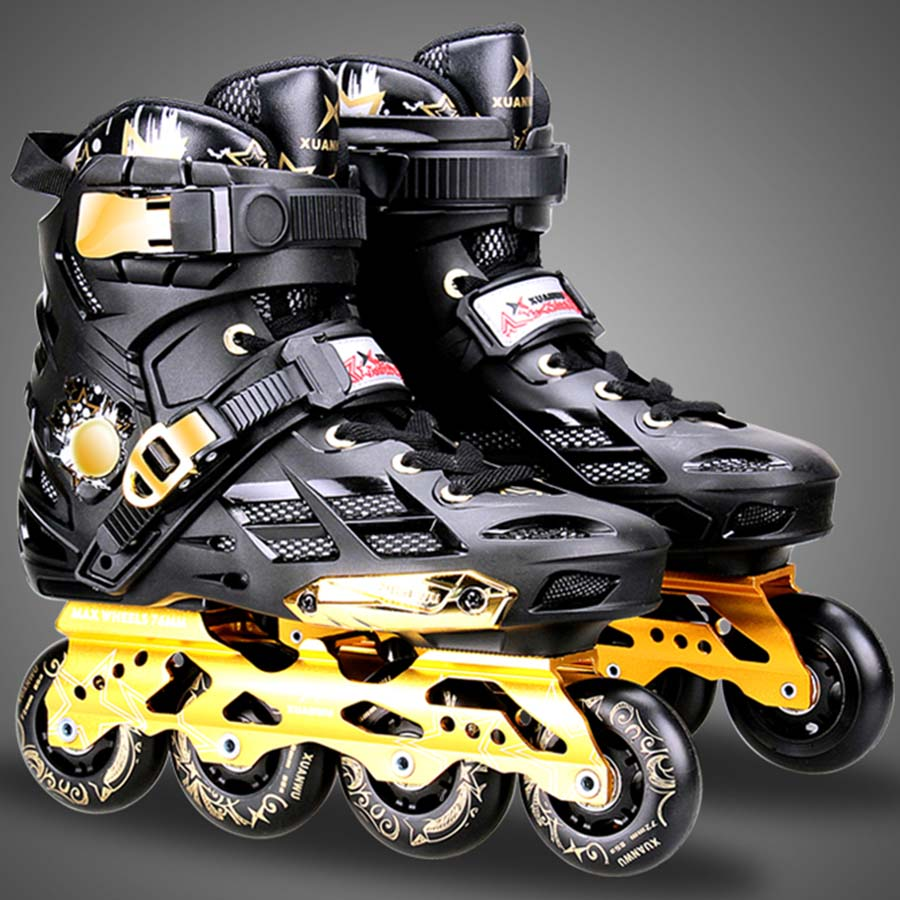 Japy Skate Inline Slalom Skate Adult's Roller Skating Shoes Inline Skates Professional Patines For Street Free Skating Sliding professional adjustable adult sliding slalom inline skates shoes roller skating shoes roller skate shoes with shinning wheel