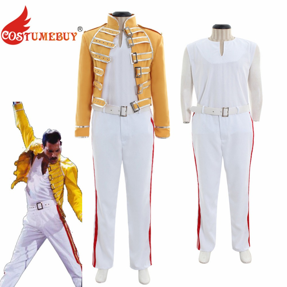 d4de051a1f192 Detail Feedback Questions about CostumeBuy Queen Lead Vocals Freddie  Mercury Costume Rock Star Freddy Cosplay Costume Poplar Stars Stage Suit  Any Size L920 ...